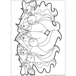 Horseland 23 Free Coloring Page for Kids