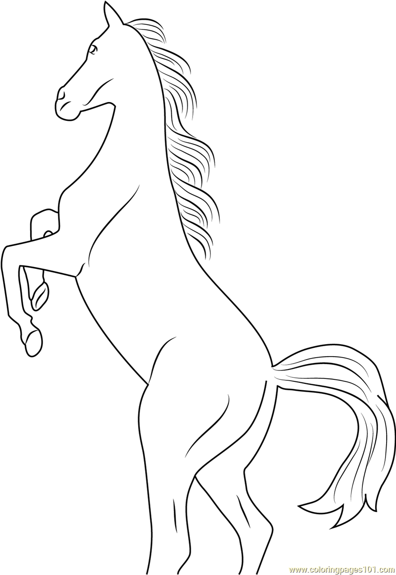 Horse Rearing Coloring Page - Free Horse Coloring Pages ...