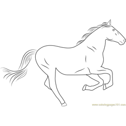 Silver Horse Free Coloring Page for Kids