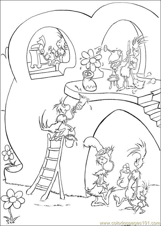 Horton 50 Coloring Page