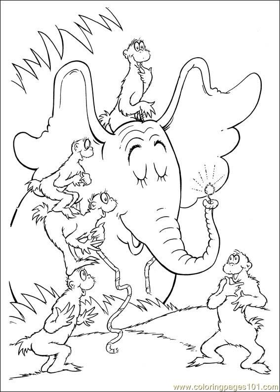 Horton 64 Coloring Page - Free Horton Coloring Pages ...