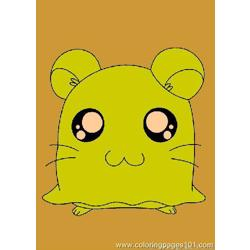 Hamtaro Coloring Page 07 coloring page
