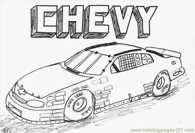 chevycar coloring page - Hot Wheels Coloring Pages
