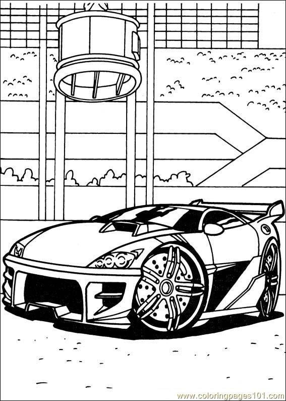 Hot-Wheels Coloring Page