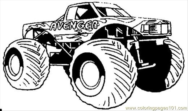 Hotwheel Coloring Page