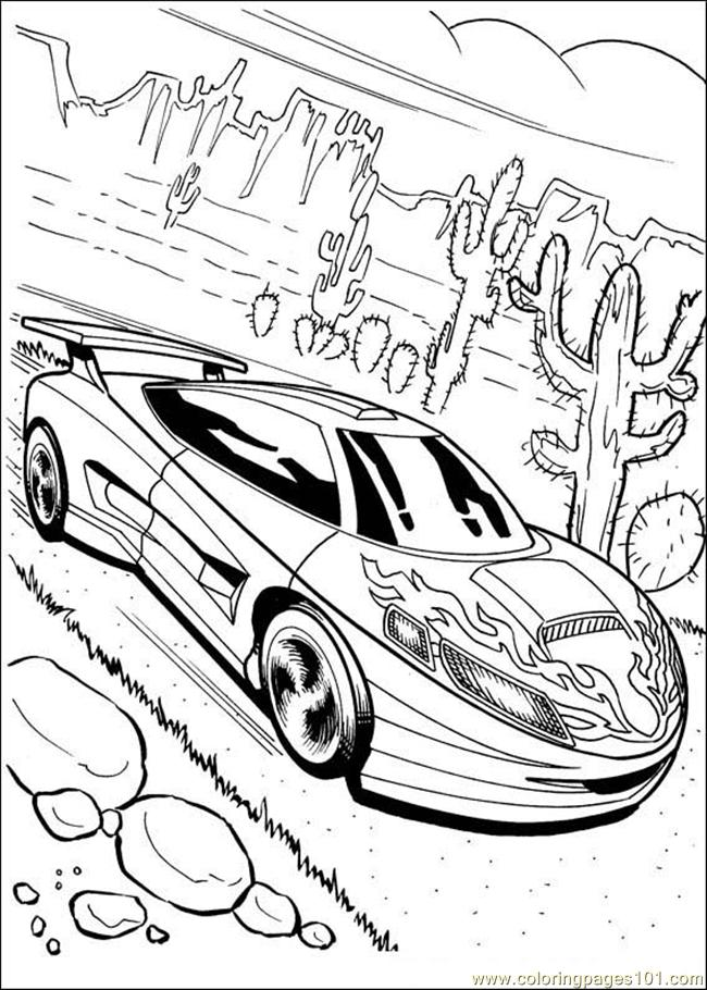 Hot wheels 05 coloring page