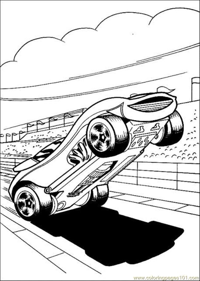 Hot Wheels8 Coloring Page
