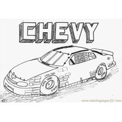 Chevycar Free Coloring Page for Kids