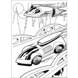 Hotwheels 04 Free Coloring Page for Kids
