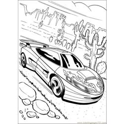 Hot Wheels 05 Free Coloring Page for Kids