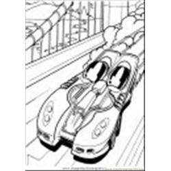 Hot Wheels 17 Free Coloring Page for Kids