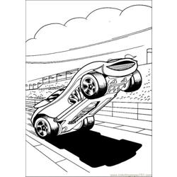 Hot Wheels8 Free Coloring Page for Kids