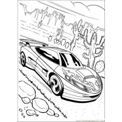 Hot Wheels Free Coloring Page for Kids