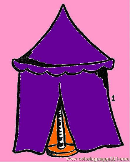 Tent Number Coloring Page