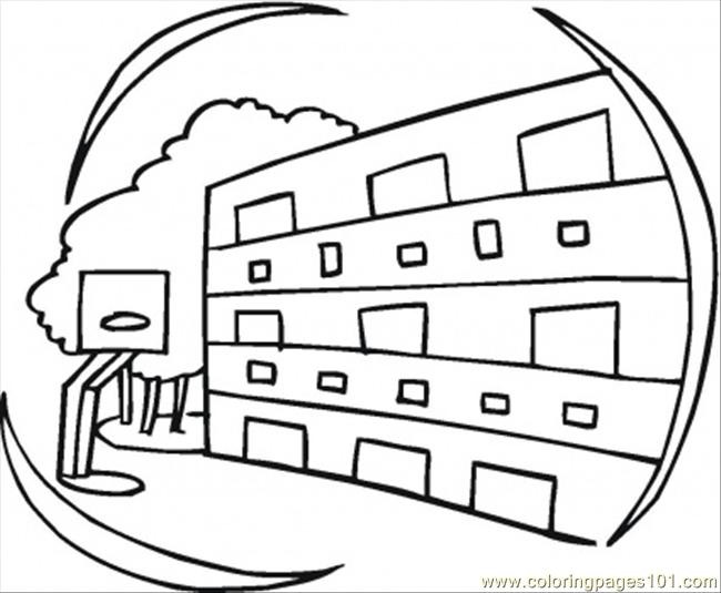 apartments printable coloring page for kids and adults