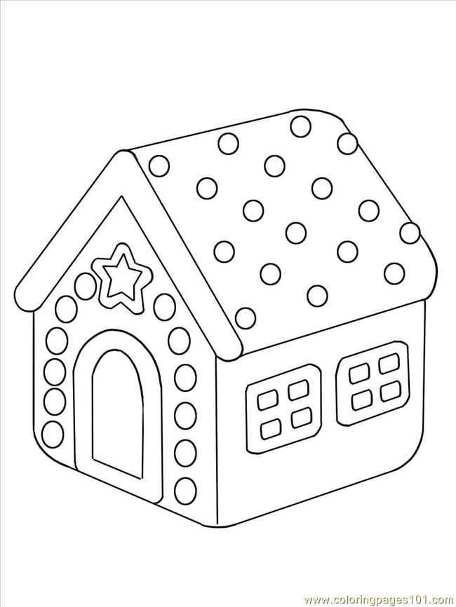 Aw A Gingerbread House Step 4 Coloring Page
