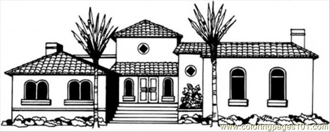Beautiful Cottage Coloring Page Free Houses Coloring Pages