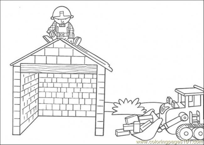 Build The House Coloring Page Coloring Page Free Houses Coloring
