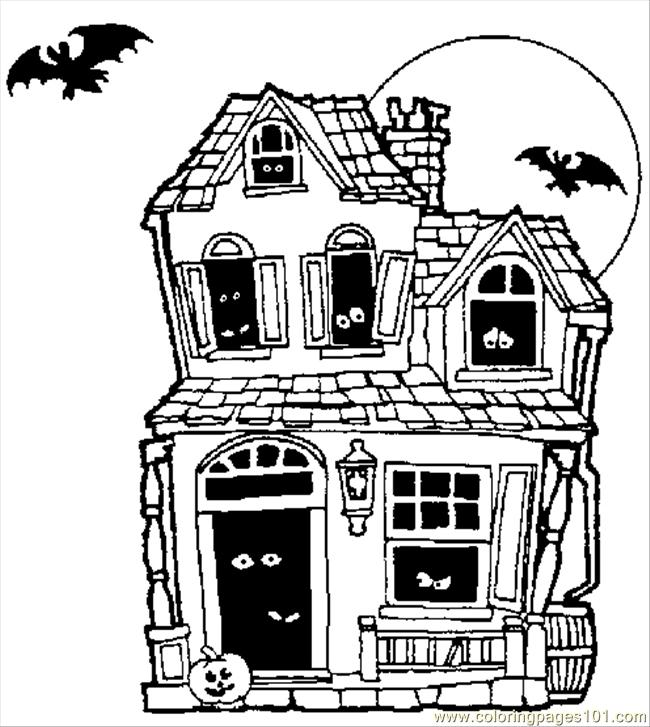 Colhauntedhouse Coloring Page