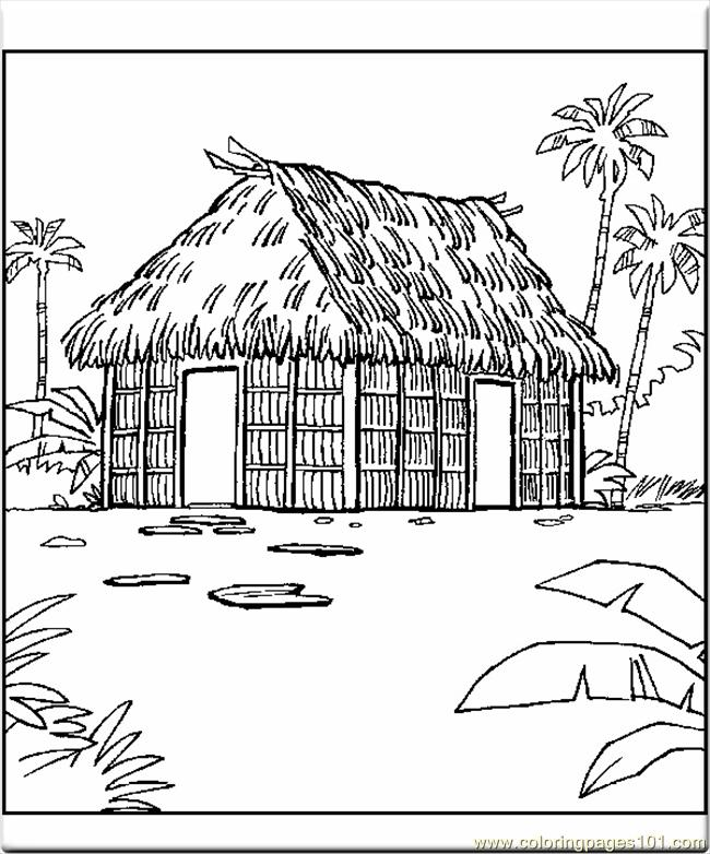 Coloring Pages Buildings 6432 Coloring Page - Free Houses Coloring ...