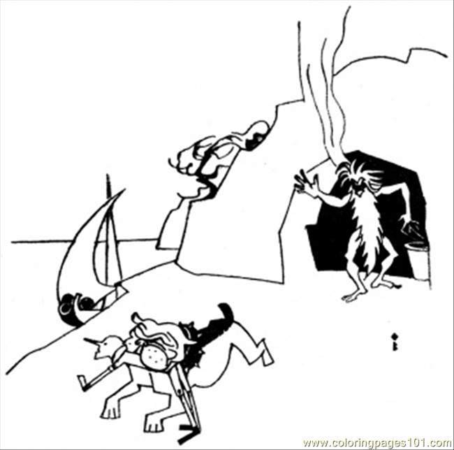 Get Out Of My Cave Coloring Page