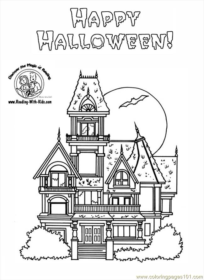 Haunted House Coloring Pages Coloring Page Free Houses Coloring