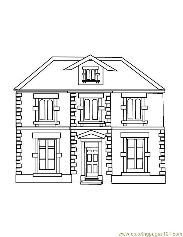 Guest house Coloring Page