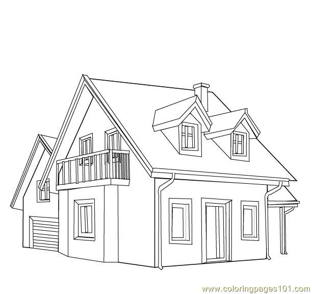 guest house style coloring page
