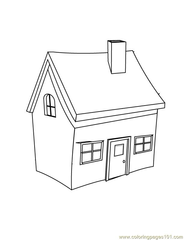 Small home Coloring Page