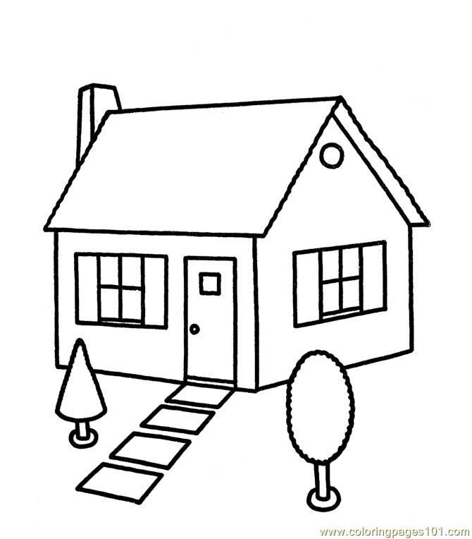 New house 1 Coloring Page - Free Houses Coloring Pages ...