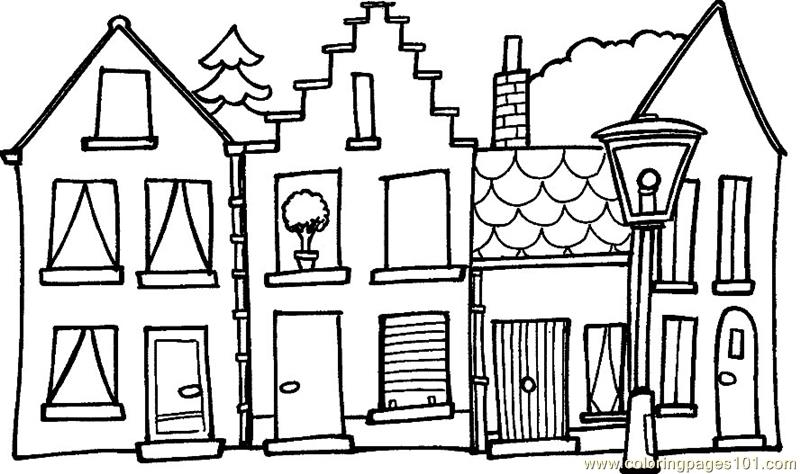 Home view Coloring Page