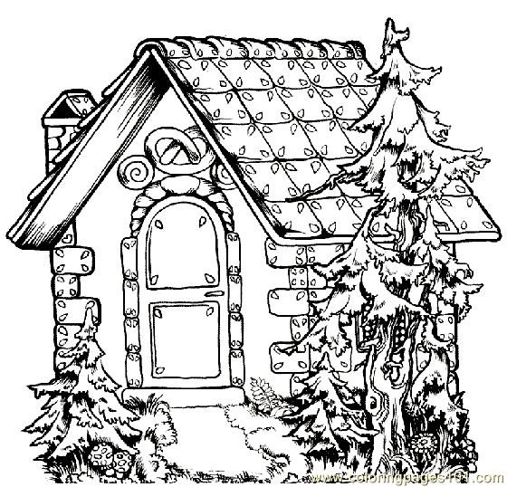 Book style home Coloring Page
