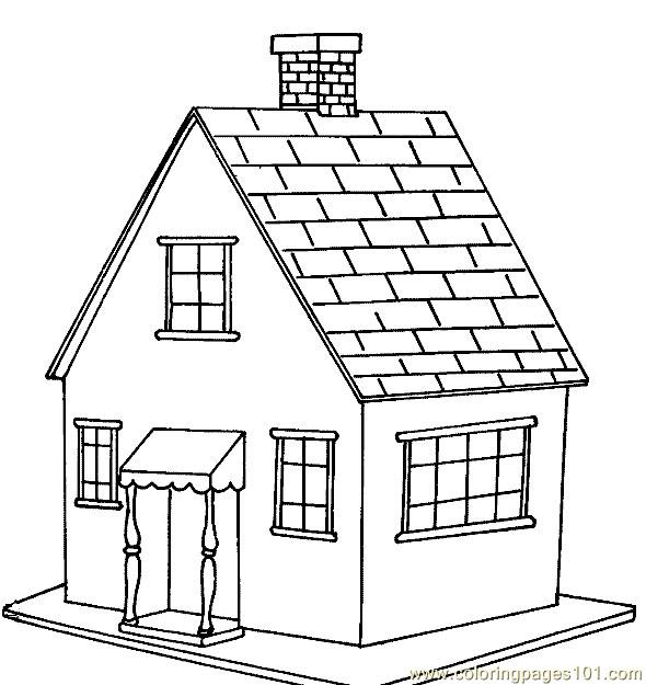Wooden Floor House Coloring Page