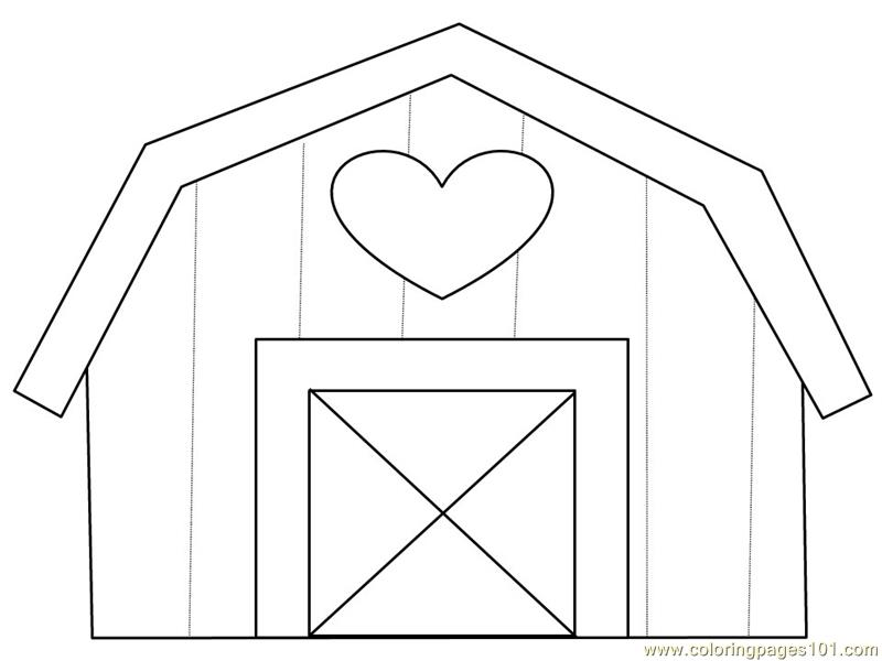 Heart home Coloring Page