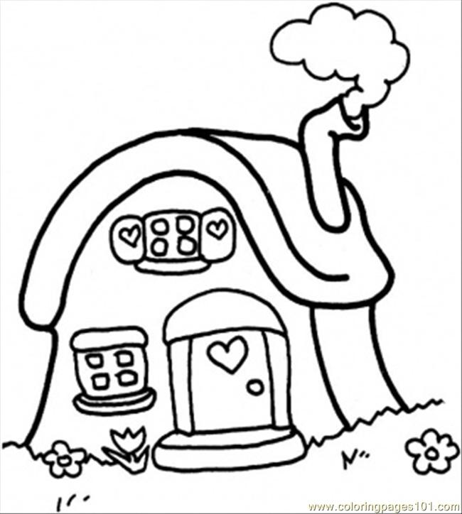 Little Cottage Coloring Page