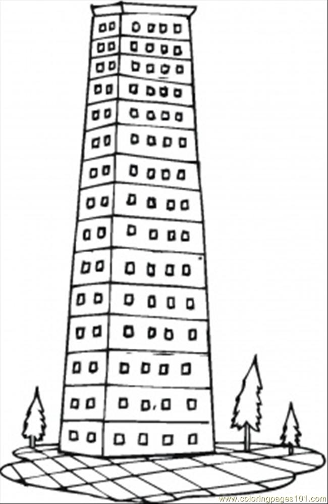 Luxury Apartments In The City Coloring Page