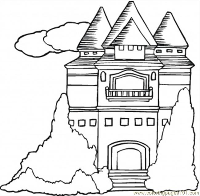 Mansion Coloring Page Free Houses Coloring Pages