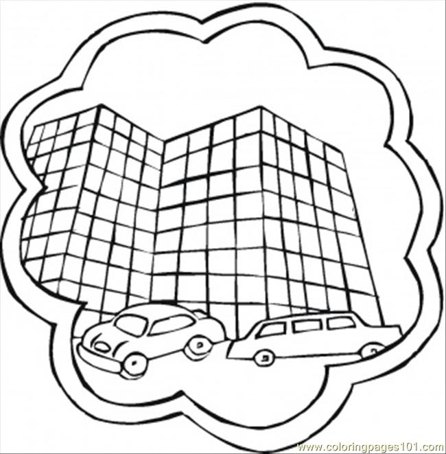 New Hotel Coloring Page