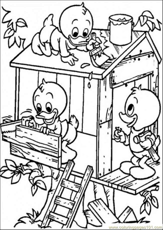 Ng A Tree House Coloring Page Free Houses