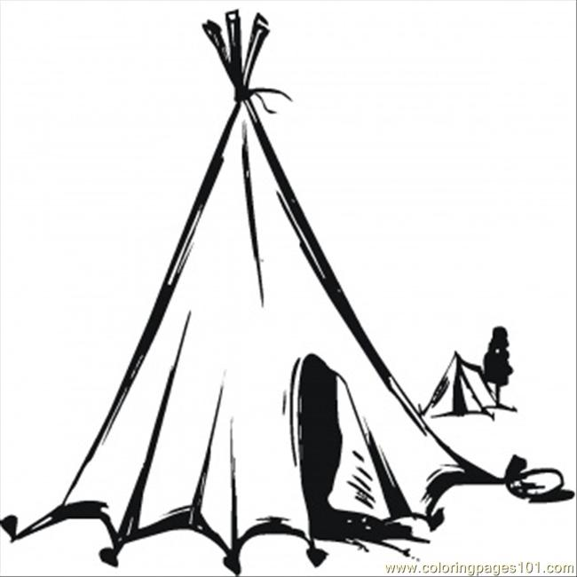 Nomads Tent Coloring Page Free Houses Coloring Pages