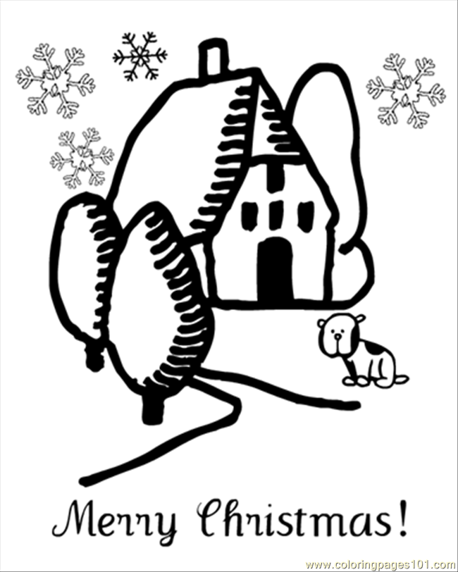 Oloring Page House And Puppy1 Coloring Page