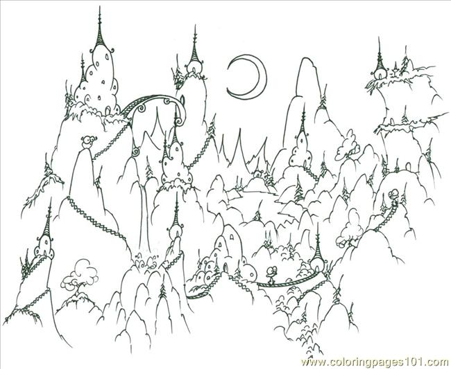 Ountain Village Coloring Page Coloring Page