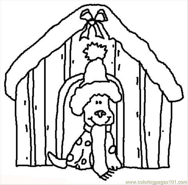 christmas dog coloring pages - photo#35