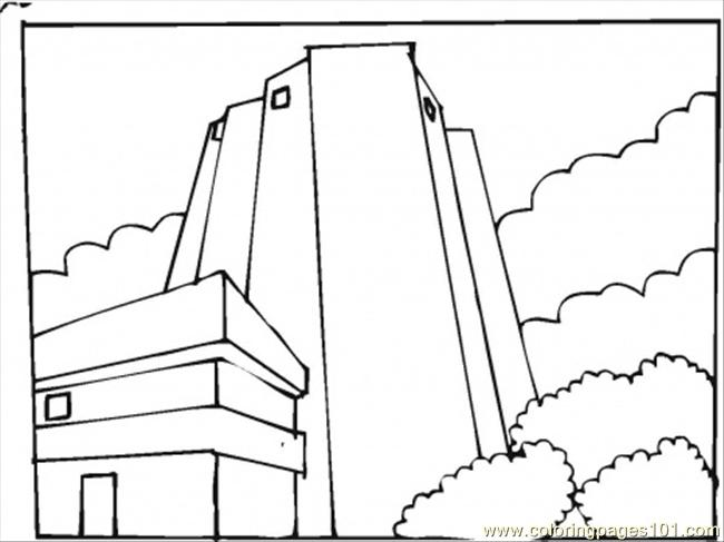 Skyscraper In The Clouds Coloring Page