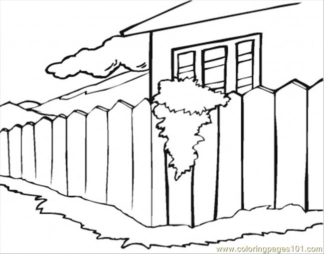 Summer House Coloring Page