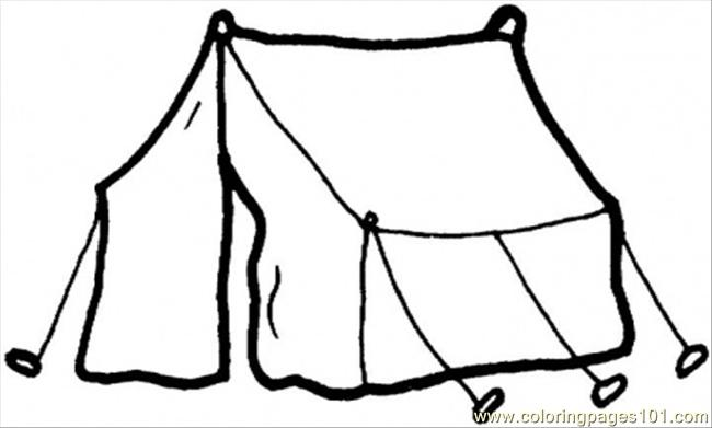 Tent For Living Coloring Page