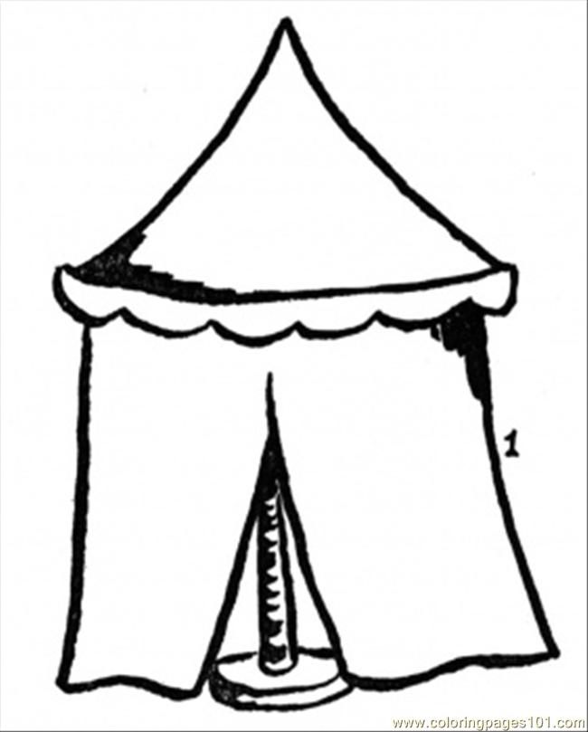 Camping tent shelter outline coloring page Vector Image | 809x650