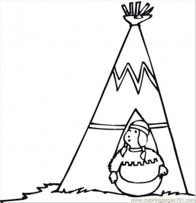 The Owner Of Wigwam Coloring Page