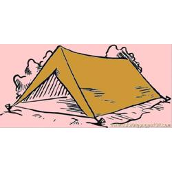 Tent In The Forest Free Coloring Page for Kids