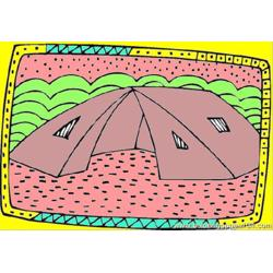Tent Free Coloring Page for Kids